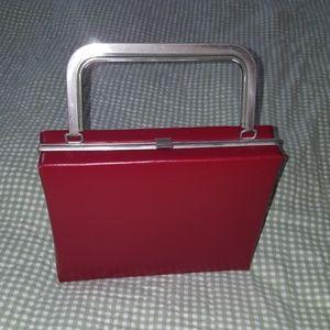 Handbags - Vintage Red Vinyle Purse